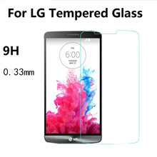 0.33mm Premium Tempered Glass For LG G2 G3 G3S G4 Mini G5 G6 K3 K4 K8 K10 2017 Glass Screen Protector Film