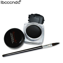 Cosmetics Waterproof Eye Liner Pencil Make Up Black Liquid Eyeliner Shadow Gel Cream with Brush Delineador Long Lasting