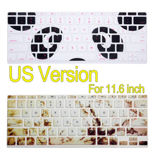 "Bear Print Colorful Silicon Keyboard Cover Laptop Skin Notebook Protector For 11"" Macbook Air(China)"