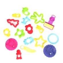 18Pcs Mixed Plastic Plasticine Clay Dough Cutters Moulds Childrens Modelling Tools Hot!