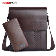 ZOROPAUL New Arrival Fashion Business Leather Men Messenger Bags Promotional Small Crossbody Vintage Shoulder Bag Casual Man Bag