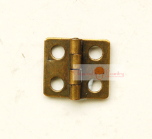 10pcs of Half Inches Hinges for Cabinet Trunk Jewelry Box Storage box Furniture Hardware Hinges Imitation Bronze