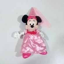 Princess Minnie Plush For Girls 35CM Kids Stuffed Toys Children Christmas Gifts(China)