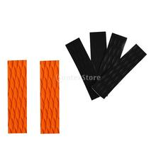 6 Pieces Orange Black Non-slip Diamond Grooved EVA Surf SUP Surfboard Skimboard Traction Pads Tail Pads Bar Grip Mat Trimmable