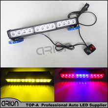 White Red Blue Amber flash light 24 LED 72W Roof Car Boat Truck Warning Emergency Strobe Lights Free Shopping