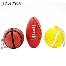 JASTER Sports ball usb flash drive 8GB 16GB 32GB memory stick basketball Pendrive football Pendriver tennis usb disk USB 2.0