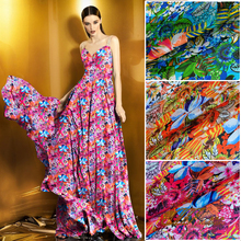(50 cm/lot) 100% silk fabric for sewing 6 momme tulle zakka tecido patchwork fabric ethnic DIY scarves tissu fashionable dress