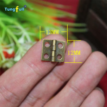 Fast Shipping In Stock 50pcs 13*12mm antique wooden gift box hinge special small metal wooden box hinge