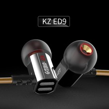 Genuine KZ ED9 Earphone 3.5mm In Ear HIFI Headset Bass Metal Earbuds DJ Headsets ear bud Mobiles Mp3 Computer earphones ecouteur(China)