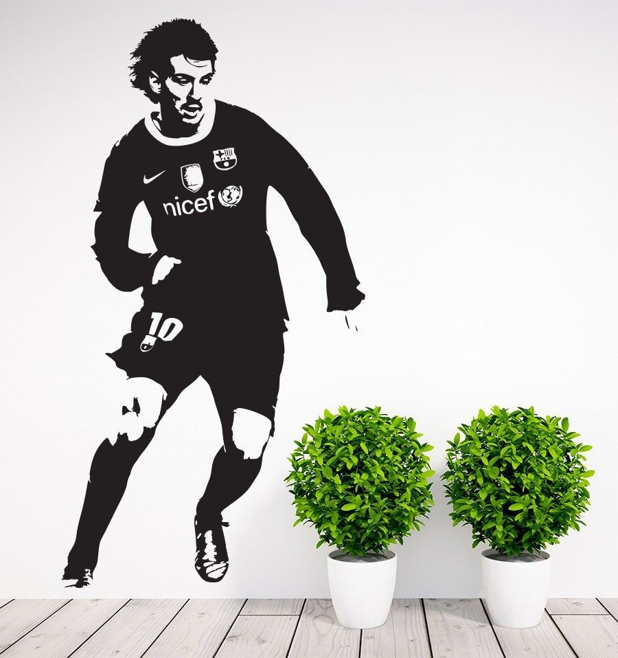 Football Player Sticker Sports Messi Decal Posters Vinyl Wall Decals Pegatina Quadro Parede Decor Mural Football Sticker
