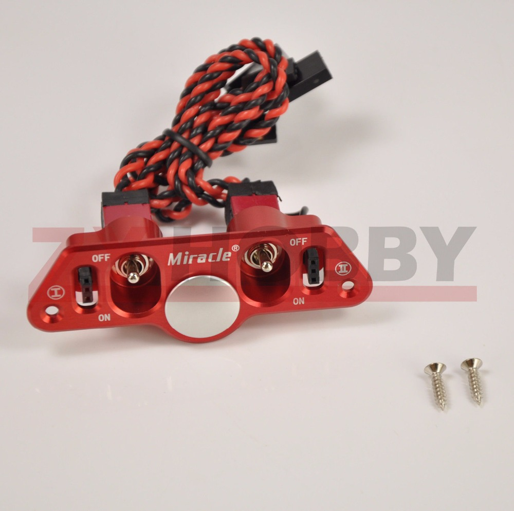 Miracle Heavy Duty Dual ON-OFF Power Switch w/ Fuel Dot RC Airplane Engine<br>