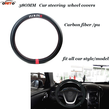 380MM for Nismo logo Car Steer Wheel Cover Carbon Fiber&Leather steering fit all car model Auto styling