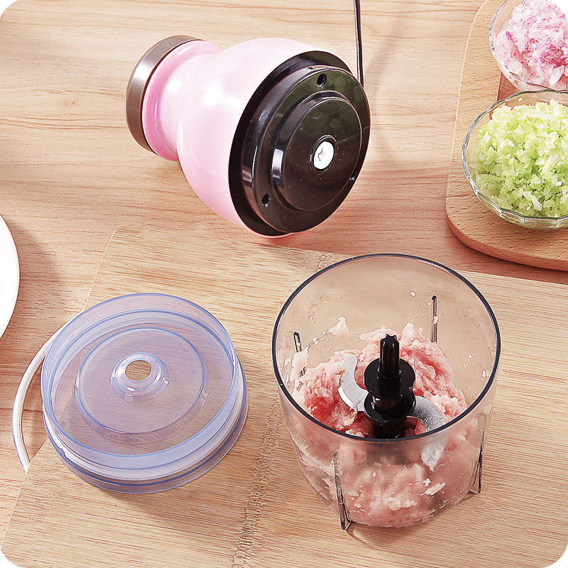 Baby food meat grinder electric household stainless steel stuffing cooking garlic stir playing mud small vegeatble fruit chopper<br>
