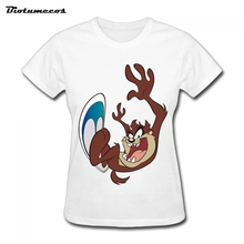 2017 Summer Women T Shirts Fashion Short Sleeve A Brown Animal Make Threatening Gesture Printed T-shirt Brand Clothing WTDM089(China)