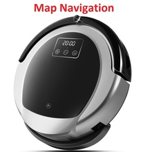 Intelligent Robotic Vacuum Cleaner B6009, 2D Map & Gyroscope Navigation,Memory,Low Repetition,Virtual Blocker,UV Lamp,Water Tank