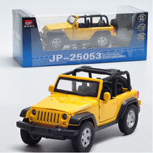 MZ JEEP Wrangler 1:32 Car Model  Alloy Flashing Pull Back Convertible SUV Off-road roadster Baby Toy Military vehicle