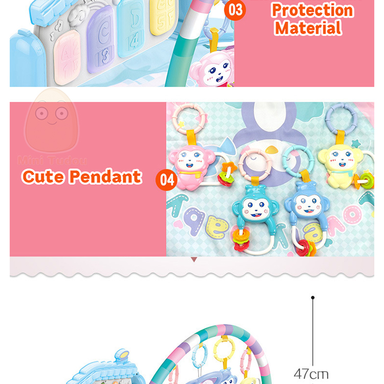 MiniTudou Baby Activity Play Mat Baby Gym Educational Fitness Frame Multi-bracket Baby Toys 0-12 Months Game Mats For Kids 11