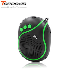 TOPROAD Outdoor Portable Wireless Bluetooth Speaker Bike Hiking caixa de som Soundbar with Microphone TF FM Bicycle Speakers