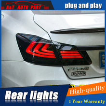 Car Styling LED Tail Lamp for Honda Accord 9 Tail Lights 2014-2016 for Accord Rear Light DRL+Turn Signal+Brake+Reverse LED light(China)