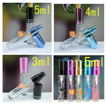 Capacity 3-5ml 200pcs/lot factory wholesale Perfume bottle packaging. Lotion spray bottle