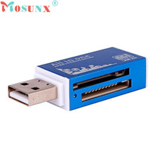 Mosunx Advanced U disk Top Department  and high quality  USB 2.0 All in 1 Multi Memory Card Reader For Micro SD TF M2 MMC 1PC