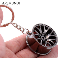 Metal Keychain Cool Luxury Wheel Hub Key Ring Fit For Car BMW VW Audi Toyota Honda Ford Key Holder Accessories Car Styling(China)