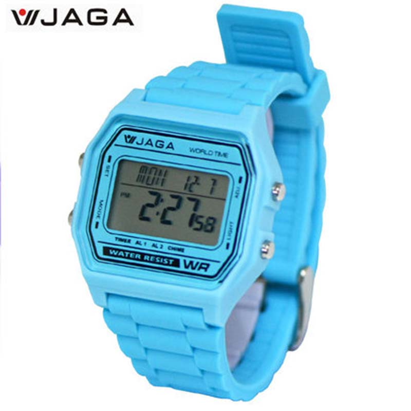 JAGA Creative Personality Minimalist Normal Waterproof LED Watch Men And Women Couple Watch Smart Electronics Watches  M1103<br>