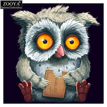ZOOYA 5D DIY Diamond embroidery Smart owl diamond painting Cross Stitch full square Rhinestone mosaic home decoration gift ZX(China)