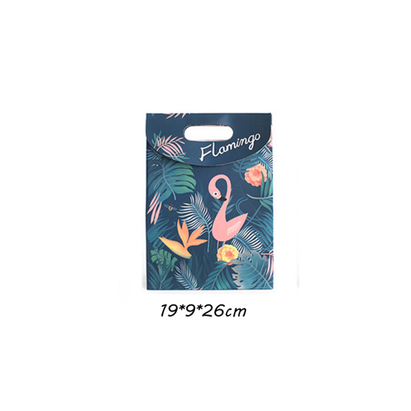 Flamingo paper Cookies chocolate Candy box Gift Bag outdoor Wedding birthday bridal baby shower Gender Reveal Decoration package 5