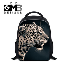 Dispalang 2017 newest school bags for boys children lovely backpacks cool leopard fox printing bookbags kids gift small rucksack