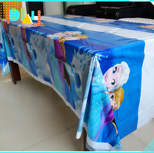108cm*180cm Princess Party Tablecloth Little Ice Snow Elsa And Anna Kids Birthday Party Decoration disposal Anna table cloth 1