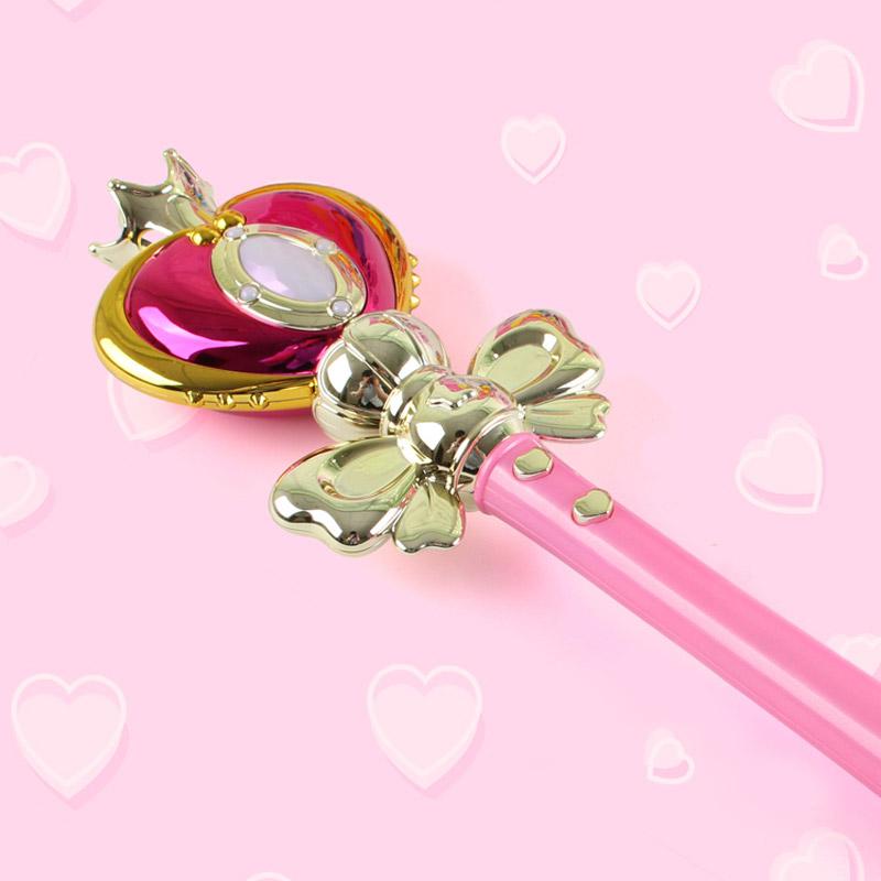 Anime Cosplay Sailor Moon 20th Tsukino Usagi Wand Henshin Rod Glow Stick Spiral Heart Moon Rod Musical Magic Wand Girl Toys (2)