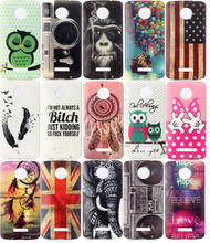For MOTO Z/Z Force UK USA Flag Cartoon Soft TPU+IMD Case Dreamcatcher Mickey Minnie Mouse Bowknot Balloon Gel Skin Cover 250pcs