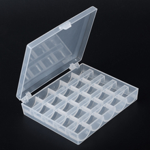 New 1Pc Clear Plastic 25 Single Grid Sewing Thread Storage Case Box Container Organize For Home Supplies(China)