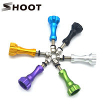 SHOOT Aluminum 1 Long and 2 Short Thumb Knob Bolt Nut Screw for Gopro Hero 4 3+ Xiaomi yi 4K SJCAM SJ4000 H9 Go Pro Accessories