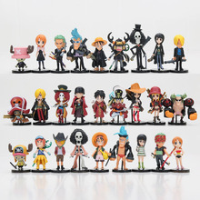 9pcs/set Anime One Piece Movie Familys Luffy zoro nami brook brinquedos fiugres Q Version PVC Action Figure Toys 5-7cm kids gift(China)