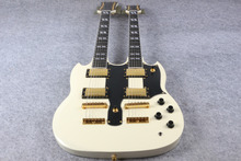 Double Neck Electric Guitar SG 1275 Model cream Finish For Sale EMS free shipping