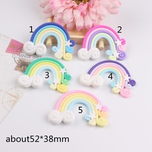 20pcs/lot kawaii ploymer clay rainbow for kids phonecase mix colors(China)