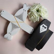 100Pcs Bridal Gift Cases Groom Tuxedo Dress Gown Ribbon Wedding Favors Candy Box Sugar Case Wedding Decoration mariage casamento(China)