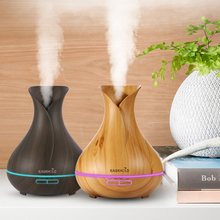EASEHOLD 400ml Aroma Essential Oil Diffuser Ultrasonic Air Humidifier with Wood Grain 7Color Changing LED Lights for Office Home(China)