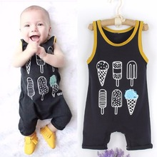 Buy Puseky 2017 Baby Clothing Sleeveless Rompers Newborn Toddler Infant Baby Boy Girl Cotton Ice cream Romper Jumpsuit Cloth Sunsuit for $3.94 in AliExpress store