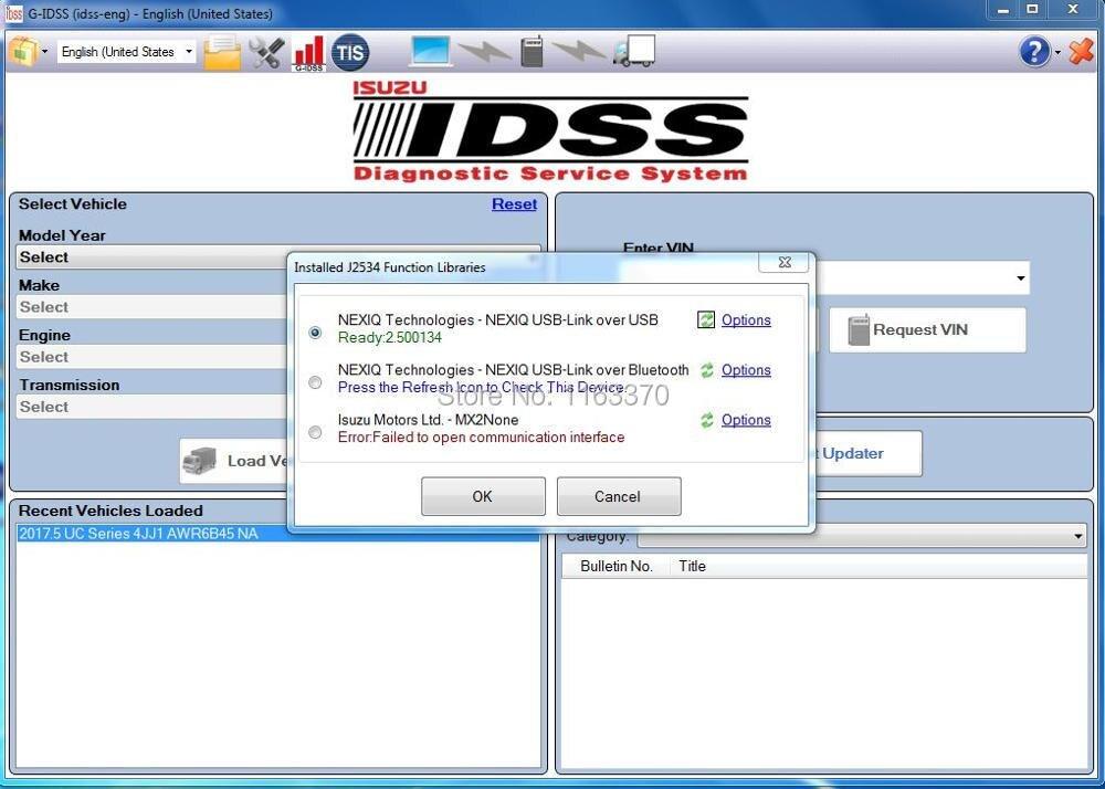 G-IDSS with nexiq usb link1