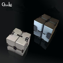 GonLeI 2017 New Cool Toy Luxury EDC Infinity Cube Mini For Stress Relief Fidget Anti Anxiety Stress Funny(China)
