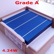 buy 4.24W 3BB polycrystalline 6x6' solar cells 30pcs 100% promised A Grade solar celll with PV Ribbon+1pc flux pen DIY PV Panel