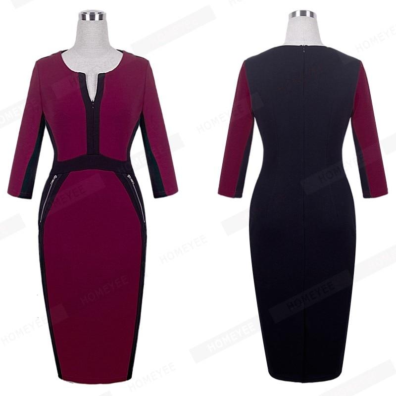 Plus Size Elegant Bodycon Pencil dress 23