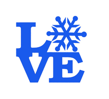 Hot Romantic Snow Love Sticker Car Window Truck Bumper Door Ski Slope Sled Winter Christmas Valentine's Day Snowy Vinyl Decal
