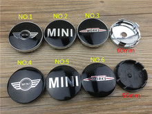 4pcs 60mm and 56mm car wheel emblem badge wheel hub cap center cover decal for Mini Cooper S wheels cars chrome centre hubcaps