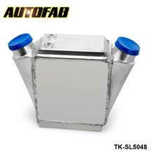"AUTOFAB - Aluminum Water Cooled Intercooler  Power Cooler  - 15"" x 11"" x 4.5"" Inlet/Outlet: 2.5"" AF-SL5048"