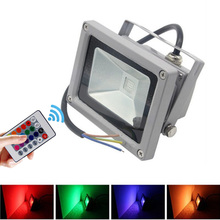 10W LED Flood Light Cold/Warm/Red/Yellow/Green/Blue/RGB Reflector Spotlight Outdoor Wall Lamp Projectors