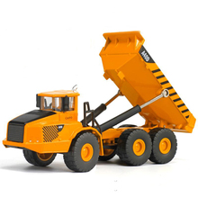 high simitation 1:50 alloy articulated dump truck toys alloy engineering vehicle metal diecast model for kids gifts original bo(China)